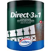 Vitex Αντισκωριακό Direct-1 Μαύρο 750ml