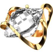 Ασημένιο δαχτυλίδι 925 με λευκή πέτρα Swarovski AD-15835G2