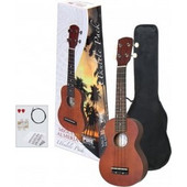 GEWApure Ukulele Almeria Player Pack Κόκκινο-καφέ Ukulele