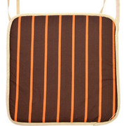 Μαξιλάρι καρέκλας με ρέλι καφέ - Πορτοκαλί γραμμές