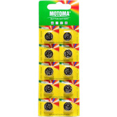 Buttoncell Motoma LR44 AG13 Τεμ. 10 Blister