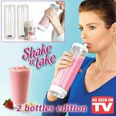 Blender για Smoothies και Χυμούς 3 σε 1 - Shake n Take 2 Bottles