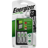 Energizer Maxi Charger & 4AA 2000 MAH