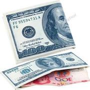 """Πρωτότυπο Πορτοφόλι με Σχέδιο """"Χαρτονόμισμα των 100 Δολαρίων"""""""