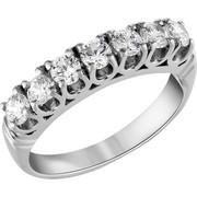 Σειρέ δαχτυλίδι Κ18 λευκόχρυσο με διαμάντια SBR_003
