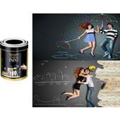 Μαύρη μπογιά για την δημιουργία μαυροπίνακα - OEM - 001.5864