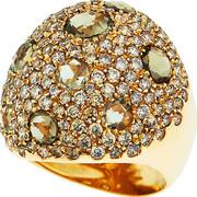 Δαχτυλίδι Ροζ Χρυσό 18 Καρατίων (Κ18) με Ζιργκόν και Ορυκτές Πέτρες, 015551