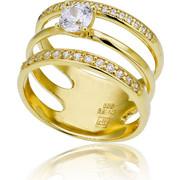 Δαχτυλίδι Κ14 με Ζιργκόν, 027263