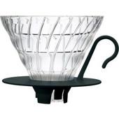 Καφετιέρα pour over γυάλινη μαύρη 1-4 φλυτζάνια V60 HARIO VDGN-02B