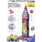 RAVENSBURGER 3D PUZZLE THE MINIONS MOVIE BIG BEN BUILDING (216PCS) (12589) EAN-020253