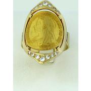Δαχτυλίδι χρυσό με μισόλιρο Βικτώρια 22 καρατίων
