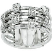 Δαχτυλίδι Κ18 με Διαμάντια, 000946