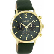 OOZOO Timepieces Green Leather Strap C8246