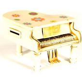 Διακοσμητικό vintage μεταλλικό πιάνο μινιατούρα 16Χ14Χ11