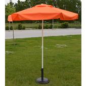 Ομπρέλα στρόγγυλη 2 μέτρα επαγγελματική, με αδιάβροχο ύφασμα, χρ. πορτοκαλί HOMEPLUS 01.02.0491