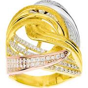 Χρυσό δαχτυλίδι Κ14 με ζιργκόν