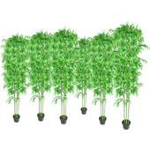 vidaXL Τεχνητά φυτά Μπαμπού για διακόσμηση σπιτιού Σετ των 6