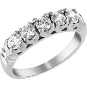 Σειρέ δαχτυλίδι Κ18 λευκόχρυσο με διαμάντια SBR004