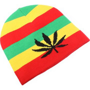 Colorful Stripes Style Woolen-knitting Winter Hedging Cap SK257497