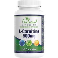 Natural Vitamins L-Carnitine 500mg 30s