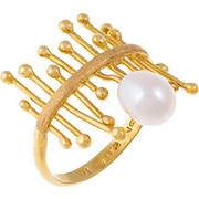 Εντυπωσιακό δαχτυλίδι από χρυσό 18 καρατίων με μαργαριτάρι. ANT01718