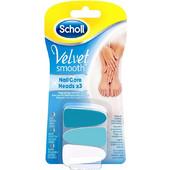 Scholl Velvet Smooth Nail Care Heads Ανταλλακτικές Κεφαλές Ηλεκτρικού Συστήματος Περιποίησης Νυχιών 3τμχ