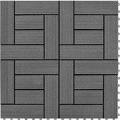 vidaXL Γκρι 11 τεμ. 30 x εκ. WPC Deck Πλακάκια 1 τμ