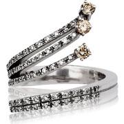 Δαχτυλίδι Κ18 με Διαμάντια, 006734
