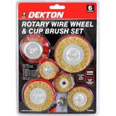 Dekton DT80505 Σετ Συρματόβουρτσες 6 τεμαχίων