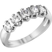 Σειρέ δαχτυλίδι Κ18 λευκόχρυσο με διαμάντια SBR005
