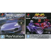 PS1 GAME - Need for Speed porsche 2000 & Moto Racer 2 Twin Pack