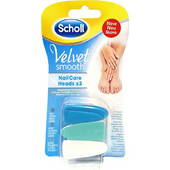 SCHOLL VELVET SMOOTH NAIL CARE HEADS 3pcs