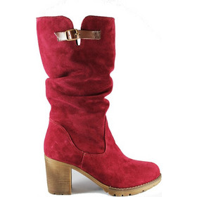 6cbb0f6e311 Γυναικεία ανατομική δερμάτινη μπότα καστόρι μπορντώ Kokka Shoes (7556)