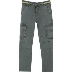 42c438ee450 OVS παιδικό παντελόνι cargo μονόχρωμο - 000398511 - Γκρι