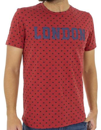 ff29f47903b4 Ανδρικό Κοντομάνικη Μπλούζα T-shirt Best Choice LONDON S18088 Κόκκινο