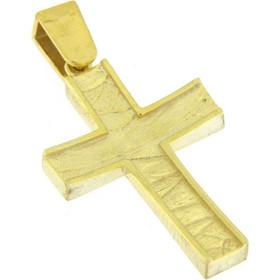 Σταυρός χρυσός 14 καράτια σκέτος a1c08779c1f