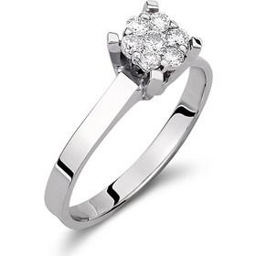 Μονόπετρο δαχτυλίδι illusion απο λευκό χρυσό 18 καρατίων με διαμάντια  0.26ct. AS1010 58e79e2608f
