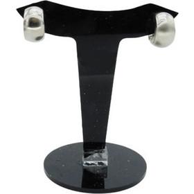 6b525b8db0 Σκουλαρίκια κλίπς μεταλλικά ρόδιου ασημί