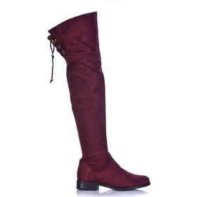 Μπότες μπορντό σουέτ με κορδόνια στο πίσω μέρος 381549wine. Tsoukalas Shoes 4c3271d58bd
