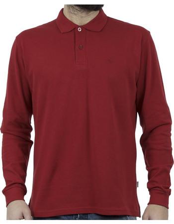 bcc5362d0426 Ανδρικό Μακρυμάνικη Μπλούζα με Γιακά Polo SNTA S14-1-14 Κόκκινο