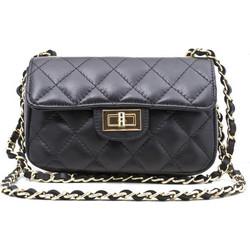 7586bb4fbe ...τσάντα Chanel μικρή δερμάτινη καπιτονέ 23-S ΜΑΥΡΟ .