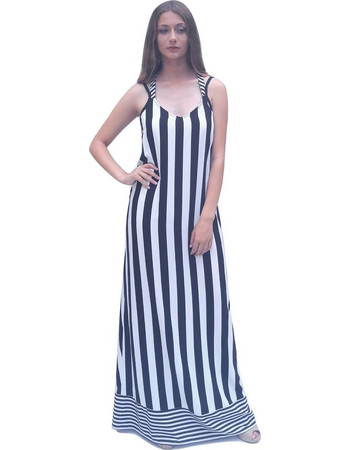 Toi-moi Φόρεμα 50-1970-15 Ασπρό-μαυρο Toi   Moi 3175114d93c