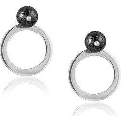 Ασημένια σκουλαρίκια σε σχήμα κύκλου 4992c9847cc