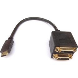 HDMI Splitter M to 2xDVI F Aculine AD-042 - ACULINE