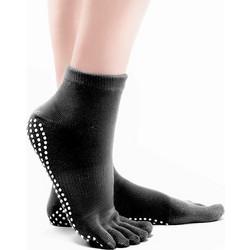 Αντιολισθητικές μονόχρωμες κάλτσες ιδανικές για yoga - Μαύρο 90048f33add