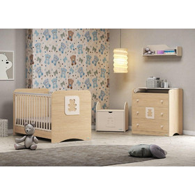 c494495c23b Σετ κρεβατάκι προεφηβικό & σιφινιέρα Casa Baby Cube Φυσικό
