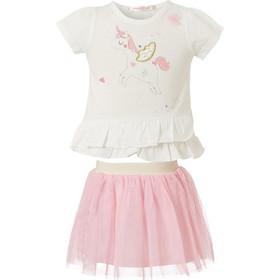 8571c919064 Σετ φούστα με τούλι και μπλούζα τύπωμα μονόκερος 14-219429-0 - Ροζ -