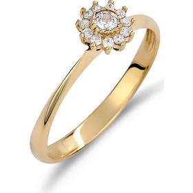 Δαχτυλίδι Λουλούδι Χρυσό Με Ζιργκόν - 002494 d58f369aac4
