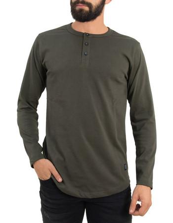 Ανδρική χακί μακρυμάνικη μπλούζα κουμπιά Origin 19919F 5926dfd06af
