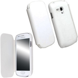 Krusell Leather Flipcover White (Galaxy S III Mini)